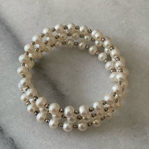 Majorca Pearl Bracelet with Sterling Silver Beads